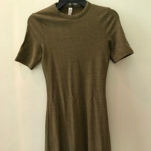 American apparel mini green olive dress